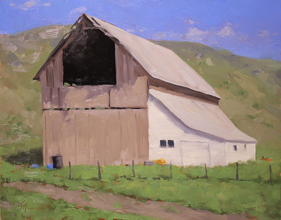 This Old Barn<br>11x14 oil on panel<br>Available $770