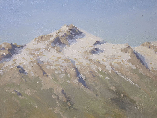 Lone Peak<br>6x8 oil on panel<br>Available $400