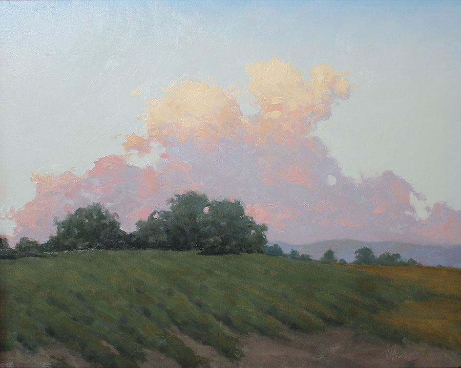 Clouds on the Horizon<br>16x20 oil on panel<br>Sold