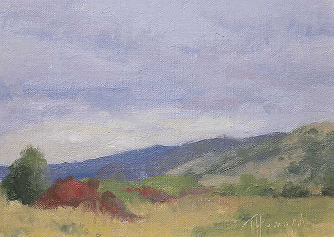 plein air study<br>6x8 oil on panel<br>Available $200