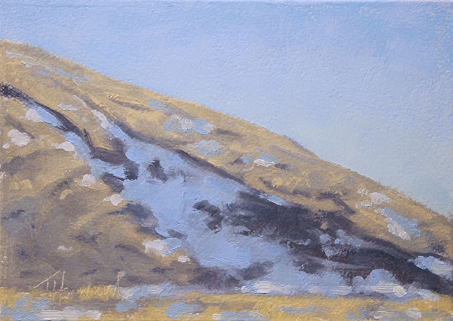 Independance Rock Wyoming<br>5x7 oil on panel<br>Available $300