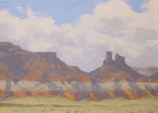 Blanketed Butte<br>5x7 oil on panel<br>Available $300